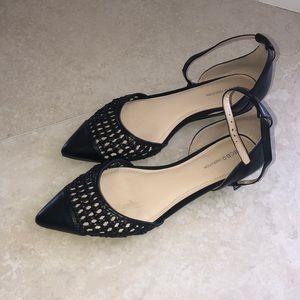 BCBG Generation Black Pointy Toe Flats